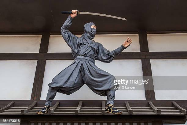 Ninja at Toei Studio Park or Toei Uzumasa Eigamura a film set and theme park in Kyoto  Japanese period movies are filmed here known as jidaigeki or...
