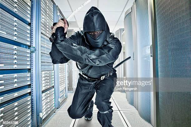 Ninja guarding server room