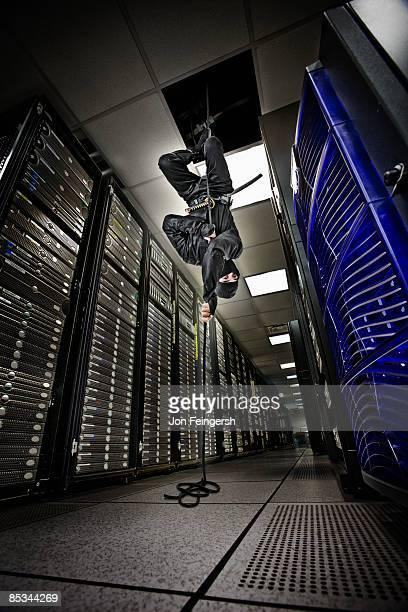 Ninja infiltrating server room