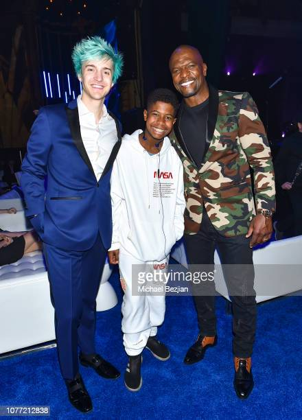 Ninja Isaiah Crews and Terry Crews at Gamers' Choice Awards 2018 at Fonda Theater on December 3 2018 in Los Angeles California