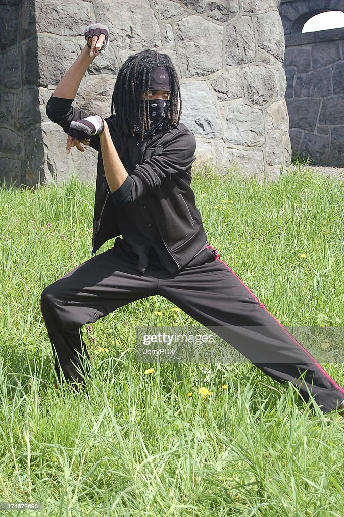 ninja moves stock photo getty images