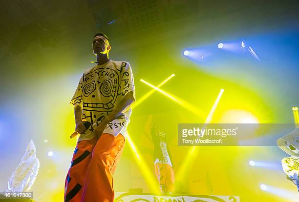 Ninja of Die Antwoord perform at Albert Hall on January 16 2015 in Manchester England
