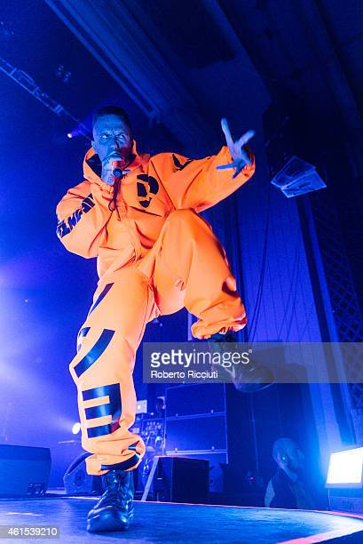 Ninja of Die Antwoord performs on stage at O2 Academy on January 14 2015 in Glasgow United Kingdom