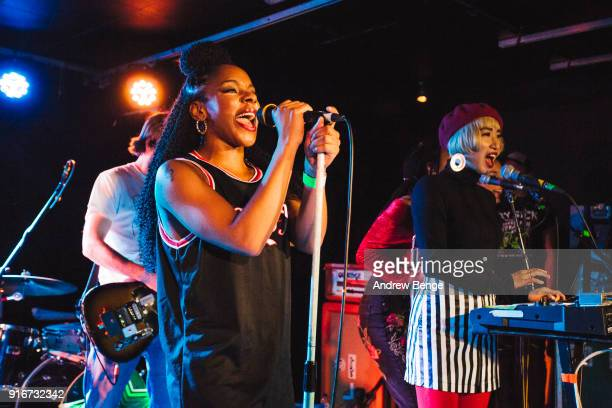 Ninja of The Go! Team performs at The Wardrobe on February 10, 2018 in Leeds, England.