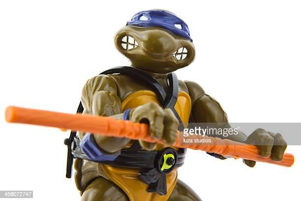 ninja tortugas de acción figura de donatello - ninja fotografías e imágenes de stock
