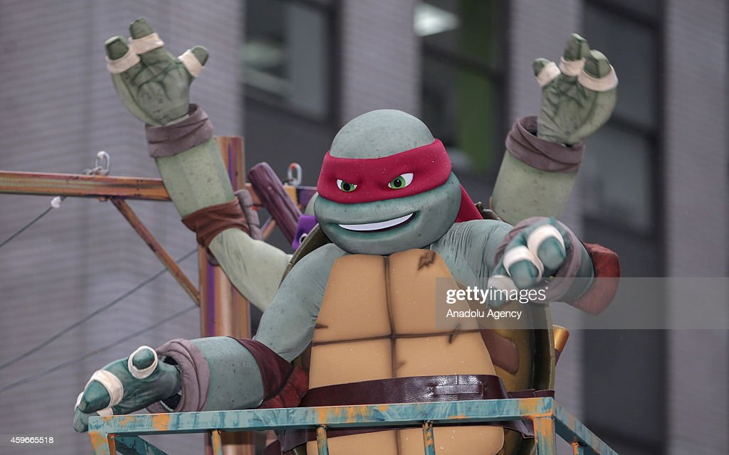 'Ninja Turtles' attend the 88th Annual Thanksgiving Day Parade outside Macy's Department Store in Herald Square on November 27, 2014 in New York City.