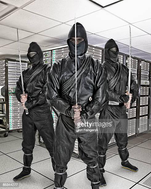 3 ninjas guarding server room