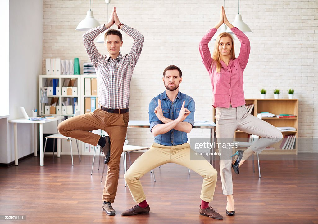 Ninjas in office : Stock Photo