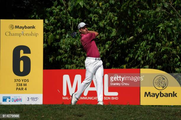 Nino Bertasio of Italy in action during day four of the Maybank Championship Malaysia at Saujana Golf and Country Club on February 4 2018 in Kuala...