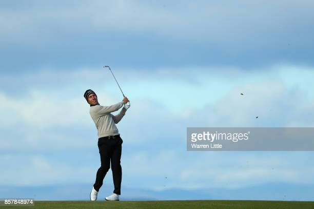 Nino Bertasio of Italy in action during day one of the 2017 Alfred Dunhill Championship at Kingsbarns on October 5 2017 in St Andrews Scotland