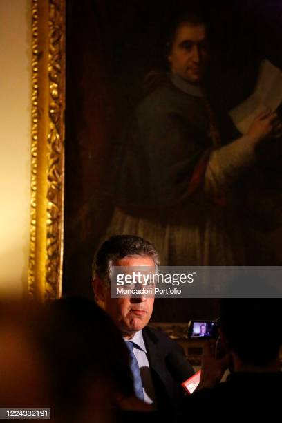 Nino Di Matteo, magistrate president of the national association of magistrates of Palermo during an interview for the presentation of the book...