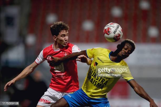 Nino Everaers of MVV Maastricht, David Sambissa of SC Cambuur during the Dutch Keuken Kampioen Divisie match between MVV Maastricht v SC Cambuur at...
