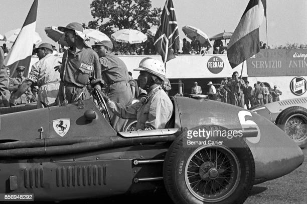 Nino Farina, Ferrari 500, Grand Prix of Italy, Autodromo Nazionale Monza, 13 September 1953. Nino Farina on the front row of the starting grid, 1953...