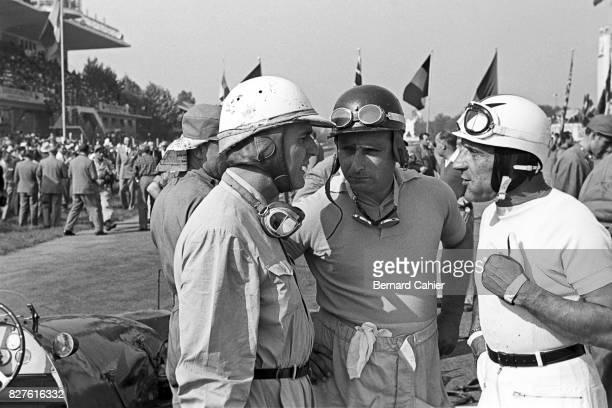 Nino Farina, Juan Manuel Fangio, Felice Bonetto, Grand Prix of Italy, Monza, 13 September 1953.