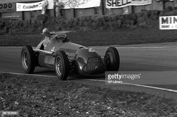 Nino Farina winning in an Alfa Romeo 158 Alfetta at Goodwood England 29th September 1951