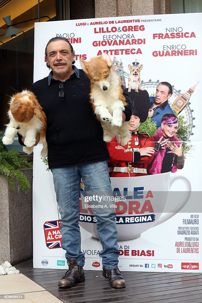 Natale A.Nino Frassica Attends A Photocall For Natale A Londra Dio
