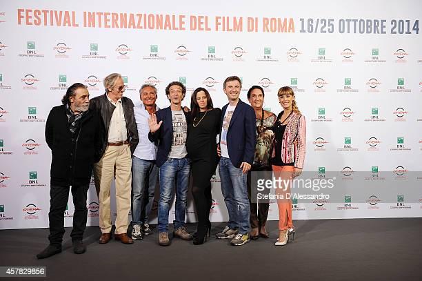 Nino Frassica Mariano Rigillo Francesco Paolantoni Salvatore Ficarra Tiziana Lodato Valentino Picone Lily Tirinnanzi and Fatima Trotta attend the...