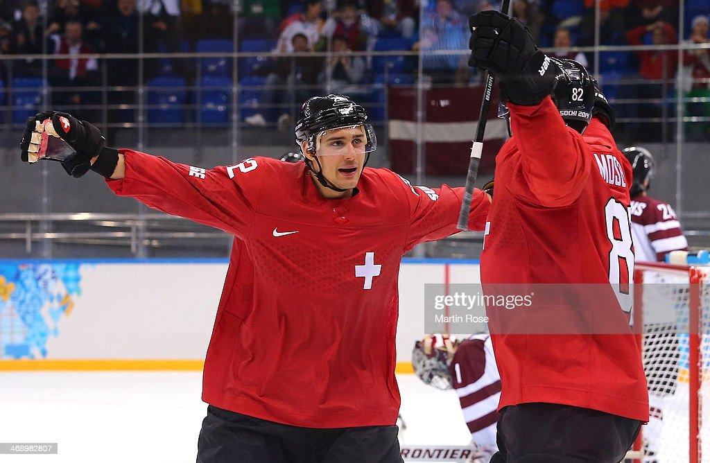 Ice Hockey - Winter Olympics Day 5 - Latvia v Switzerland : News Photo