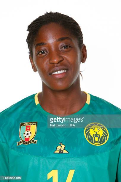Ninon Abena of Cameroon poses for a portrait during the official FIFA Women's World Cup 2019 portrait session at Crowne Plaza Montpellier Corum on...