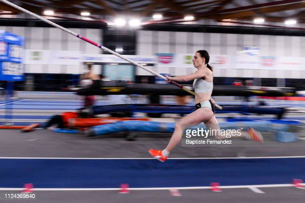 Ninon Guillon Romarin in action during the Meeting Women's Val D'Oise Eaubonne 2019 on February 12, 2019 in Paris, France.