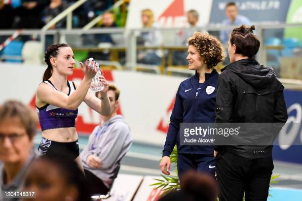 Ninon GUILLON-ROMARIN and Marion LOTOUT of France during the France Elite indoor championships on February 29, 2020 in Lievin, France.