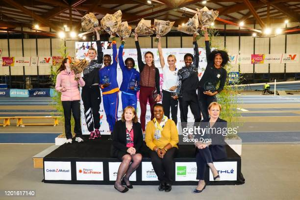 Ninon GUILLON-ROMARIN of France and Marie-Christine CAVECCHI and Jeanne DOCTEUR and Evonne BRITTON of USA and Justyna SWIETY-ERSETIC of Poland and...