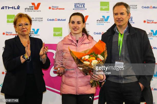 Ninon GUILLON-ROMARIN of France and Marie-Christine CAVECCHI and Frederic GUERRE during the Meeting Women's Val D'Oise Eaubonne 2020 on February 17,...
