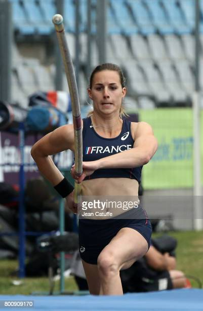 Ninon Guillon-Romarin of France competes in Pole Vault during day 2 of the 2017 European Athletics Team Championships at Stadium Lille Metropole on...