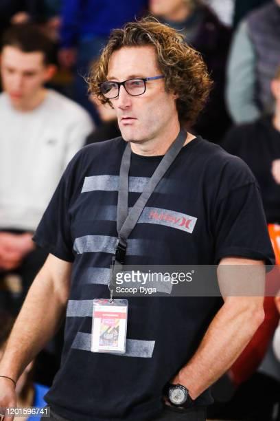 Ninon GUILLON-ROMARIN of France's head coach Emmanuel CHAPELLE during the Meeting Women's Val D'Oise Eaubonne 2020 on February 17, 2020 in Paris,...