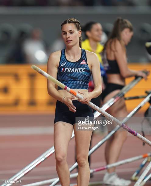 Ninon Guillou-Romarin during the womens pole vault - IAAF World Athletics Championships at the Khalifa International Stadium in Doha.
