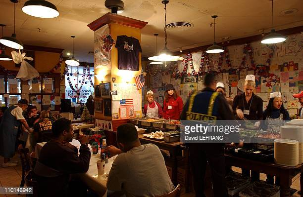 Nino's restaurant in downtown Manhattan has been serving free meals to WTC rescue workers in New York, United States on December 17, 2001 - New York...