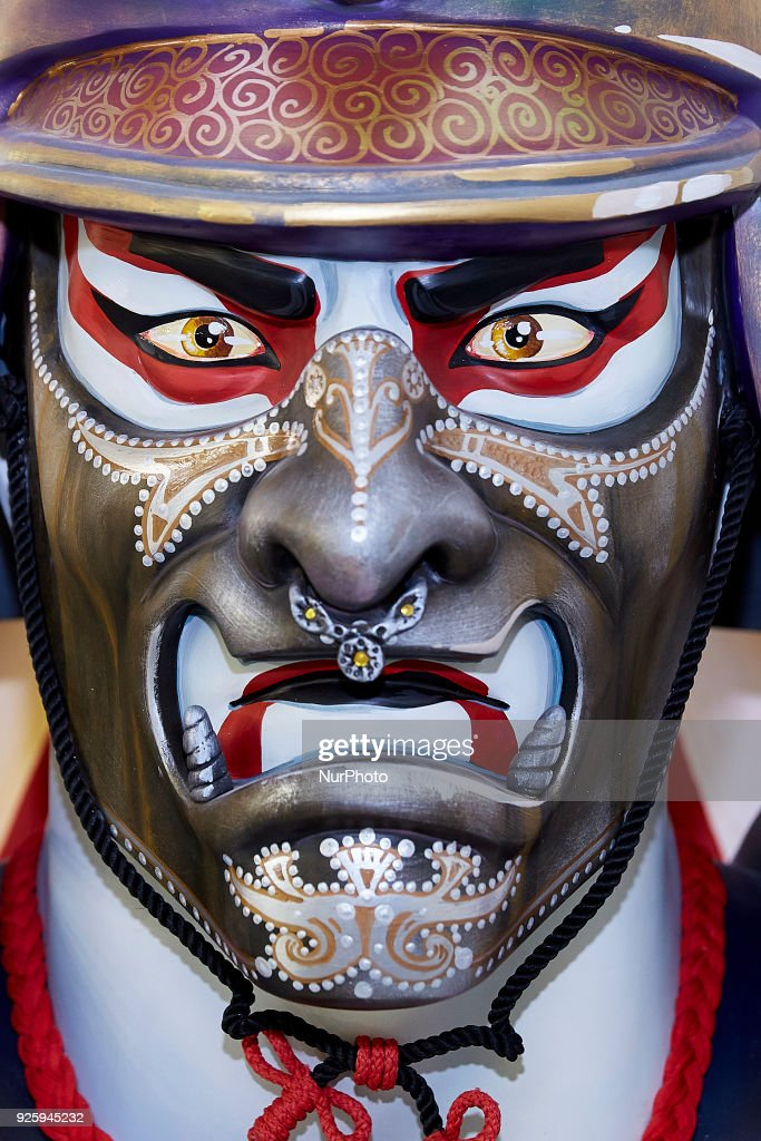 A 'ninot' (puppet) depicting a Samurai is displayed during the Ninot exhibition ahead of Las Fallas Festival at Museo de Las Ciencias Principe Felipe on March 1, 2018 in Valencia, Spain. The Fallas is Valencias most international festival, which runs from March 15 until March 19 and celebrates the arrival of spring with fireworks, fiestas and bonfires made by large puppets named Ninots. During the months preceding this unique festivity, a lot of hard work and dedication is put into preparing the monumental and ephemeral cardboard statues that will be devoured by the flames. The festival has been designated as a UNESCO Intangible Cultural Heritage of Humanity since 2016.