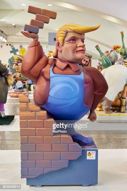 A 'ninot' depicting United States President Donald Trump is displayed during the Ninot exhibition ahead of Las Fallas Festival at Museo de Las...