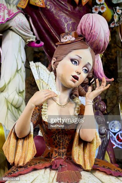 A 'ninot' is pictured during the last day of the Las Fallas Festival on March 19 2018 in Valencia Spain The Fallas is Valencias most international...