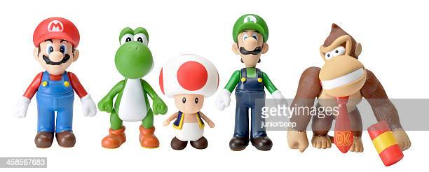 nintendo characters - nintendo stock pictures, royalty-free photos & images