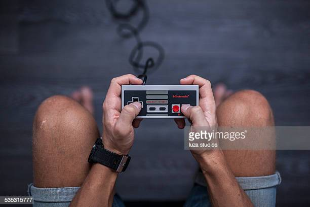 nintendo entertainment system - video game controller - nintendo stock pictures, royalty-free photos & images