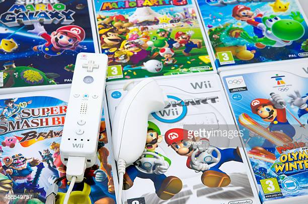 nintendo mario wii - nintendo stock pictures, royalty-free photos & images