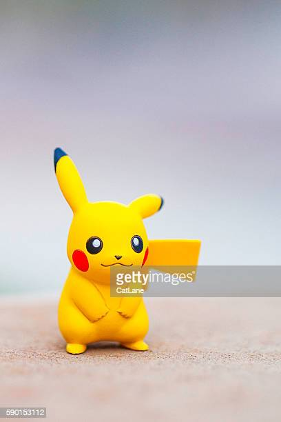 nintendo pokemon go character pikachu - pikachu stock photos and pictures