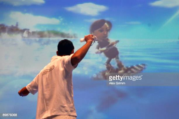 Nintendo Wii is demonstrated during the 'gamescom' Europe's biggest trade fair for interactive games and entertainment on August 19 2009 in Cologne...