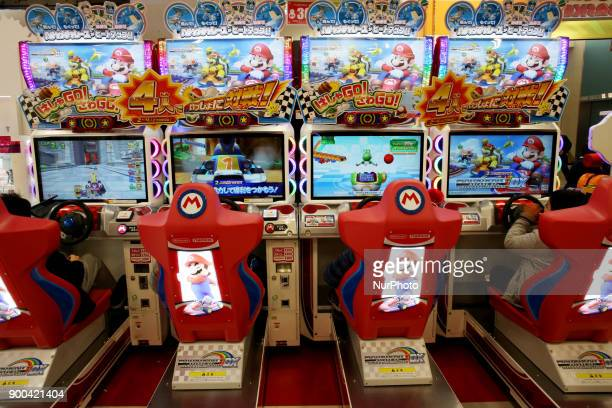Nintendo's Super Mario game character is pictured at a video game corner in Tokyo Japan January 2 2018