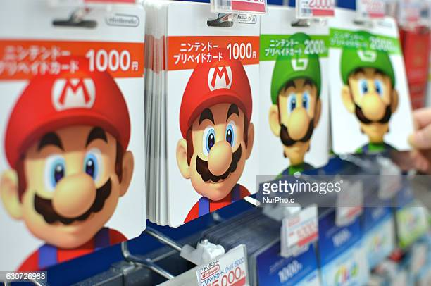 Nintendo's Super Mario game characters are displayed at a video game corner at a retail store in Akihabara district in Tokyo Japan December 31 2016