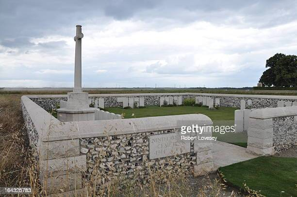 Ninth Avenue Cemetery is situated 3 kilometres south of the village of Haisnes and 1 kilometre south-west of the village of Hulluch, and 274 metres...