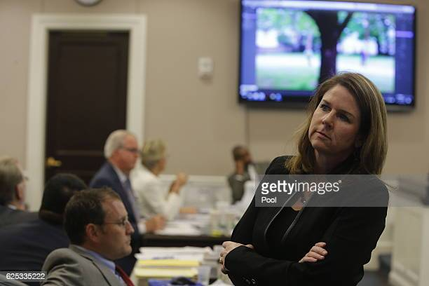 Ninth Circuit Solicitor Scarlett Wilson listens during the trial of former North Charleston police officer Michael Slager at the Charleston County...
