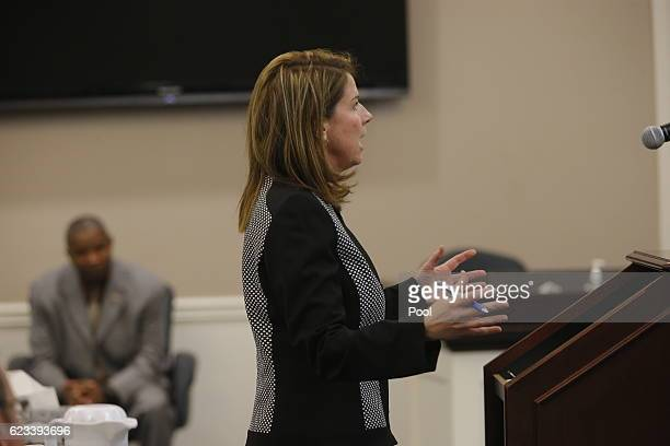 Ninth Circuit Solicitor Scarlett Wilson speaks during the trial of former North Charleston police officer Michael Slager in Charleston County Court...