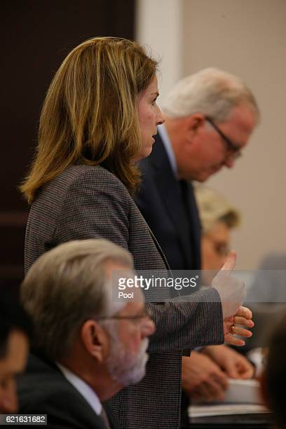 Ninth Circuit Solicitor Scarlett Wilson, speaks to Judge Clifton Newman during the murder trial of former North Charleston Police Officer Michael...