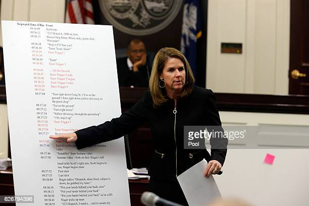 Ninth Circuit Solicitor Scarlett Wilson speaks to the jury during the murder trial of former North Charleston police officer Michael Slager at the...