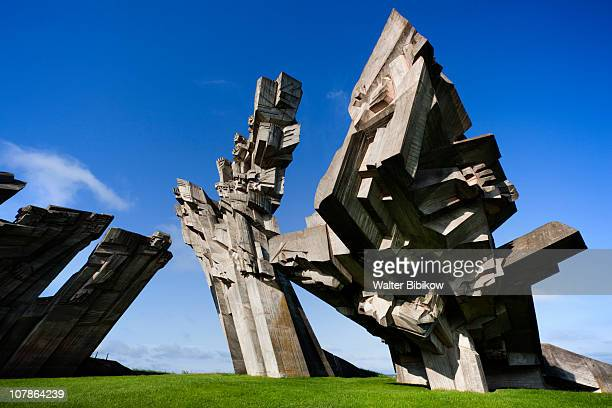 ninth fort monument, memorial - fascism stock pictures, royalty-free photos & images