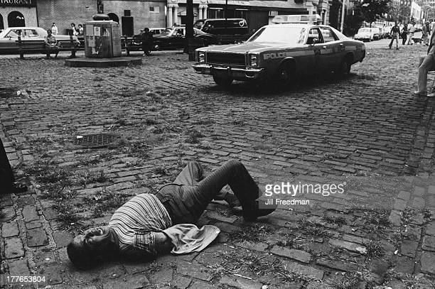 Ninth Precinct police officers are called to a disturbance involving a man with mental illness on 2nd Avenue and 9th Street New York City 1980