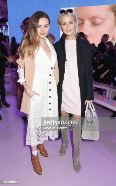 Niomi Smart and Victoria Mcgrath attend the Mulberry 'Beyond Heritage' SS18 Presentation during London Fashion Week February 2018 at Spencer House on...
