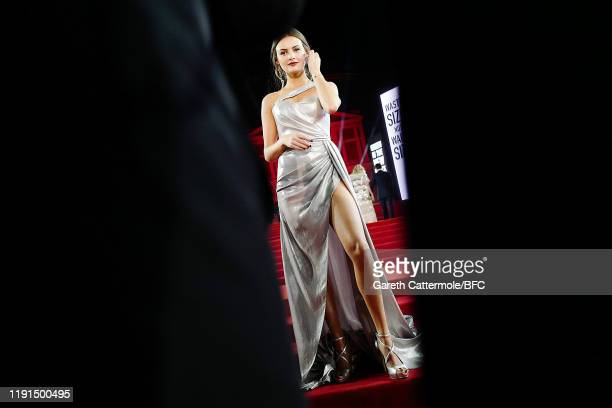 Niomi Smart arrive at The Fashion Awards 2019 held at Royal Albert Hall on December 02 2019 in London England